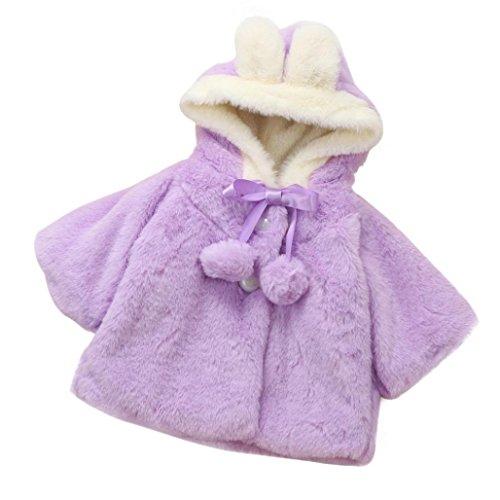 Baby Mädchen Mäntel Kapuzenjacke für von WINWINTOM (18-24 Monate, Lila)
