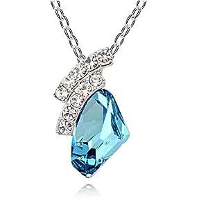 Swarovski Elements Aquamarine Crystal Eternal Love