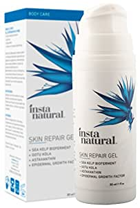 Instanatural Scar Gel Cream For Old & New Scars More Effective Than Scar Oil - With Epidermal Growth Factor, Sea Kelp Bioferment, Astaxanthin