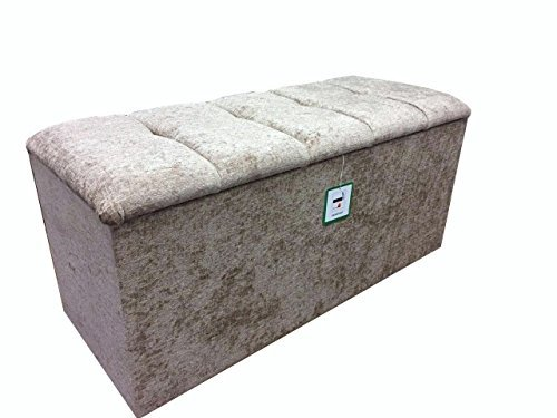 Length 77cm (30) Chenille Blanket Box Storage Toy Box with a lift up Button lid in a Quality Mink Chenille fabric...Ideal for any room in the house by Elegance Furnishings (Box Toy Lift)