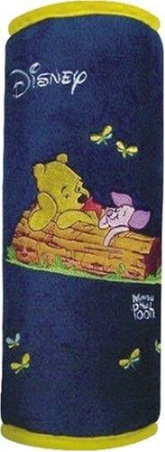 Winnie Pooh WPKFZ450 Schlafkissen, blau bestickt,mit Gurtbefestigung