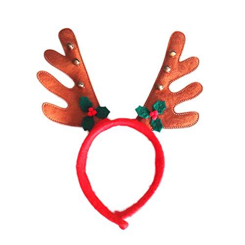 Weihnachtsdekoration, Hirsch, Rentier, Haarband, Kopfbedeckung, Weihnachten, Elch Geweih, Haarspange, Kostüm, Cosplay - Party Domain Kostüm