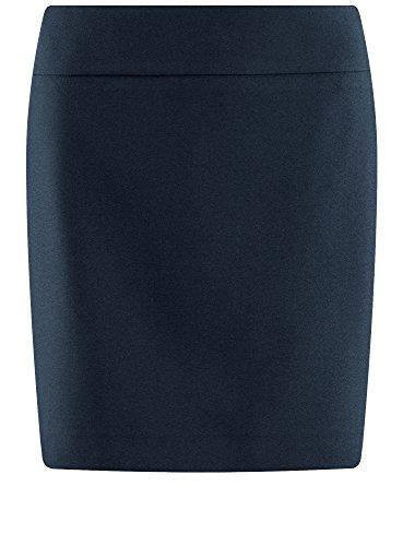 oodji Ultra Damen Kurzer Rock Basic Blau (7900N)