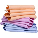 Cotton Cloth U Shape Nappies/Diapers/Langot For New Born Baby Washable And Reusable (0-9 Months Pack Of 12)