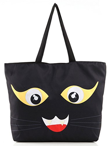 THENICE, Borsa a spalla donna Multicolore multicolore Medium Black Cats