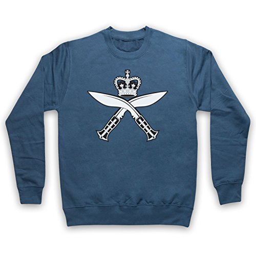 Gurkha Regimental Insignia Badge Logo Erwachsenen Sweatshirt, Airforce Blau, Small (39 Insignia Tv)