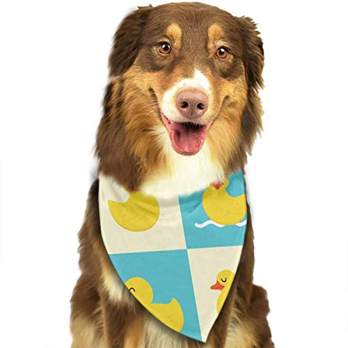 Kleines Mädchen Kostüm Duck - nxnx Pet Dog Bandana Scarf Pack Triangle Bibs Funny Rubber Duck Printing Kerchief Set Accessories for Small to Large Dogs Cats Pets