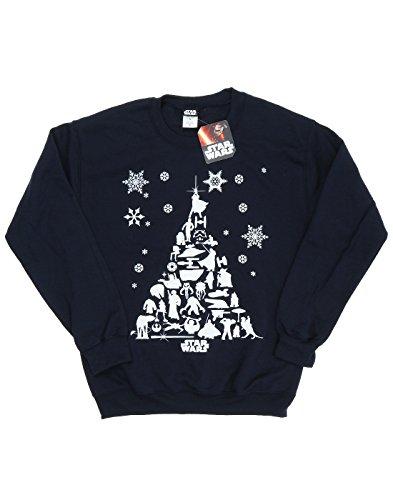 Star Wars Femme Christmas Tree Sweat-Shirt Foncé