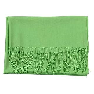 Wiwsi Long Stoles Lady Women Fashion Cashmere Pashmina Scarf Wrap Shawl (Apple Green)