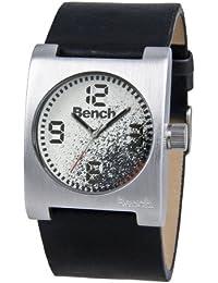 Bench BC0304GYBK - Reloj analógico de caballero de cuarzo con correa negra