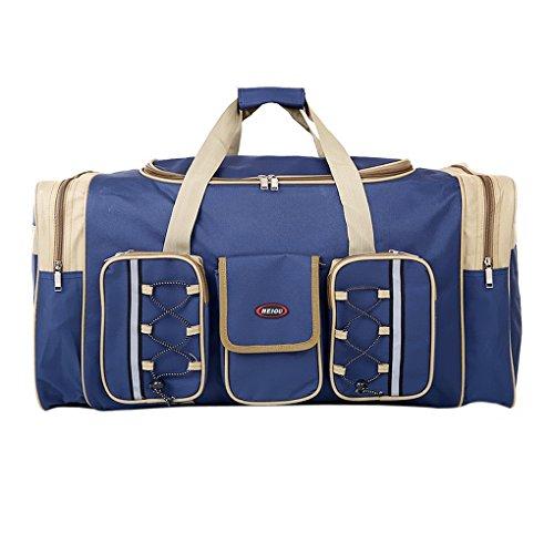 Liying Reisetasche Händgepäck Sporttasche Tasche Luggage Bag Reisekoffer Handtasche 65 x 35 x 30 cm,aus Oxford Gewebe für Reise am Wochenende Urlaub Blau