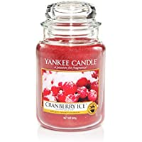 Yankee Candle 1244595E Cranberry Ice Candele in giara Grande, Rosso, 10.1x9.8x17.7 cm