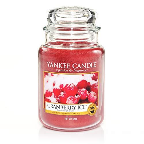 Yankee Candle Duftkerze im großen Jar, Cranberry Ice, Brenndauer bis zu 150Stunden