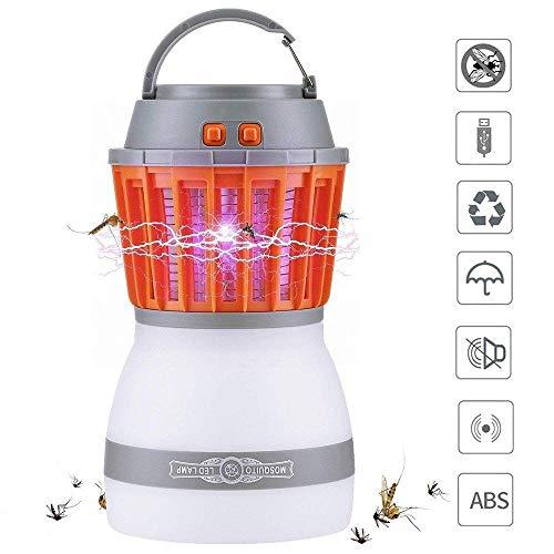 DYWLQ Moskito-Mörder-Lampen-Abwehrmittel, tragbares wasserdichtes Multifunktionszelt kampierendes USB-UVlicht, Fliegen-Insekten-Wanzen-Schädlings-Mückenfallen-Antrieb Weg -