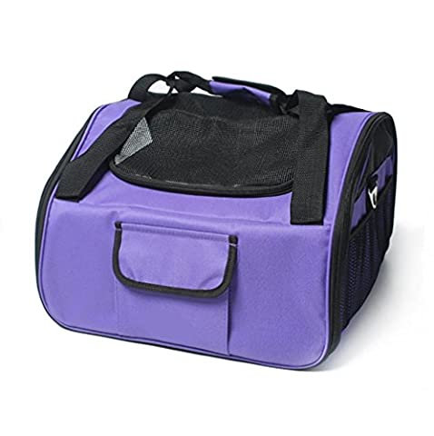 LOHUA Pets PET TRAVEL CARRIER for Cats, Small Dogs, Puppies, Soft Sided, Carry-on fits under seat, collapsible folds flat for easy storage , 41*34*40 , deep