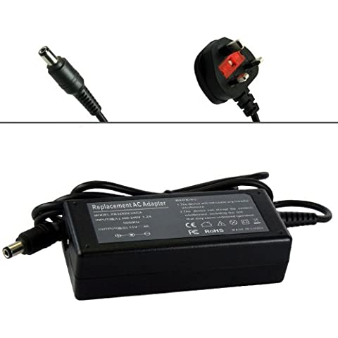 60W Alimentatore Caricabatterie Adattatore di ricambio per Toshiba Portege M100 2000 3500 4000 Series: 2000, 2010, 3500, 3505, 4000, 4005, 4010, M100