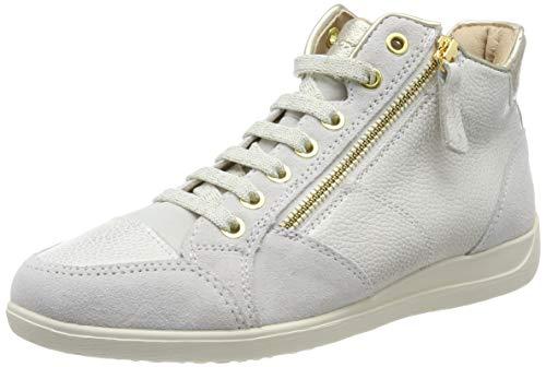 Geox Damen D Myria C Hohe Sneaker, Beige (Champagne/Off White Cb51q), 41 EU