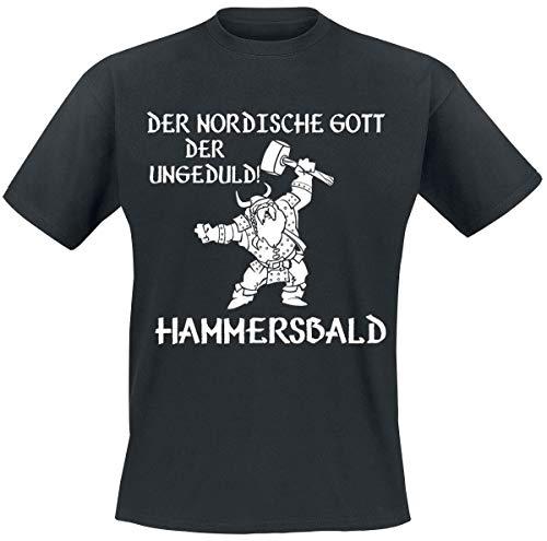 Der nordische Gott der Ungeduld! Hammersbald T-Shirt schwarz XL