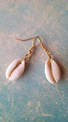 Boucles d'oreilles coquillages naturels cauris, idéal pour l'été