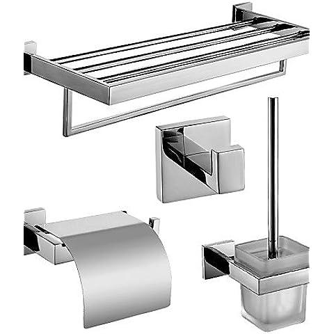 ZDQ- Setdi accessori da bagno/Porta cartaigienica/Ganci appendiabiti/Mensole