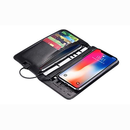 Wireless Powerbank 50000mAh Externer Akku/Taschenlampe / 3 in 1 Kabellose Power Bank mit LCD Digital Display und Dual Input & 3 Ausgänge hohe Kapazität Tragbares Ladegerät für das Smartphones