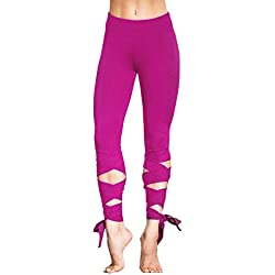 Minetom Yoga Leggings Polaina Mujer Pilates Fitness Entrenamiento Pantalones Deportes Lounge Athletic Pants Vendaje Especial Cuatro Estaciones Rose EU L