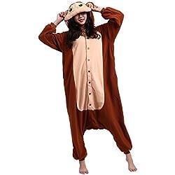 CuteOn Unisexo Adulto Dibujos animados Animal Kigurumi Pijama Ropa de Dormir Encapuchado Cosplay Disfraz Nuevo Mono XL for Altura 178-187CM