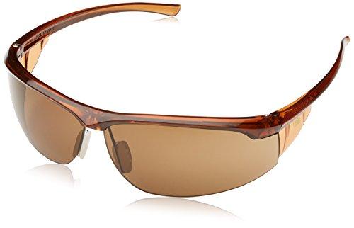 3M Refine3 Schutzbrille, AS/AF/UV/PC, Bronze Getönt, Rahmen Braun -