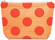 Large Makeup Bag Orange Spot Handprinted Mothers Day Gift