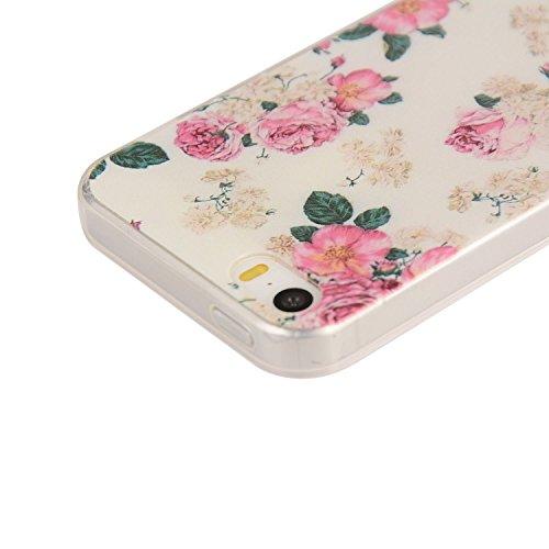 Pour Apple iPhone 5 5G 5S / iPhone SE (4 Pouces) Coque ZeWoo® Étui en Silicone TPU Housse Protecteur - YG012 / World Domination For Cats YG015 / Des Rosiers