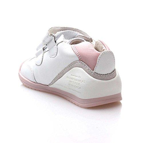 zapatos de separación 55a0d 80f73 BIOMECANICS Botita 151157 Cuero Niñas Color Blanco-Rosa talla: 21