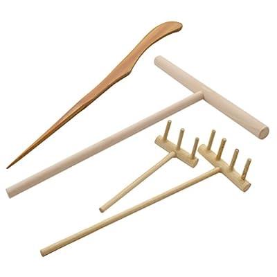 Lychee Zen Garten Rechen Harke Stift Haufen Bambus Fengshui Werkzeug Zubehör Set