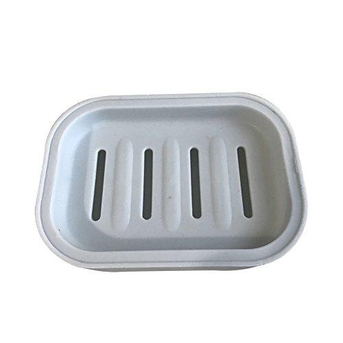Azul Aikesi Caja de Jab/ón Elegancia Soap Storage Holder Pl/ástico Drenaje Doble con Cubierta Jabonera Protecci/ón Ambiental Storage Dish Storage Holder para Ba/ño 1 Unidades