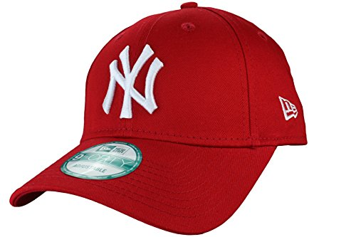 New Era 9Forty Adjustable Baseball Cap League Basic New York Yankees in red/white
