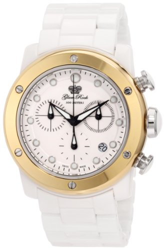 Glam Rock GR50101 - Reloj para mujeres, correa de cerámica color blanco