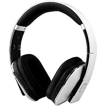 August EP650 - Bluetooth NFC Kopfhörer mit aptX Technologie - mit Lederohrpolster (Weiß)