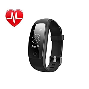 41Lhaob9EPL. SS300  - GXIAO ID107Plus Activity Tracker Smart Bracelet IOS and Android 0.96 inches OLED Heart Rate Monitor Call Reminding Pedometer Smart Watch Black, Blue, Green, Purple, Red