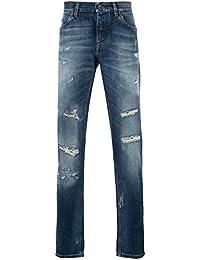 Dolce E Gabbana Homme G6XPLZG8U23S9001 Bleu Coton Jeans