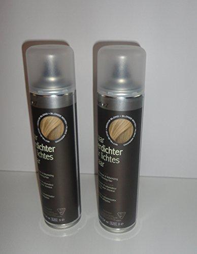 Vorratsangebot! 2 x Hairfor2 Haarverdichtungsspray 400ml (Dunkelblond)