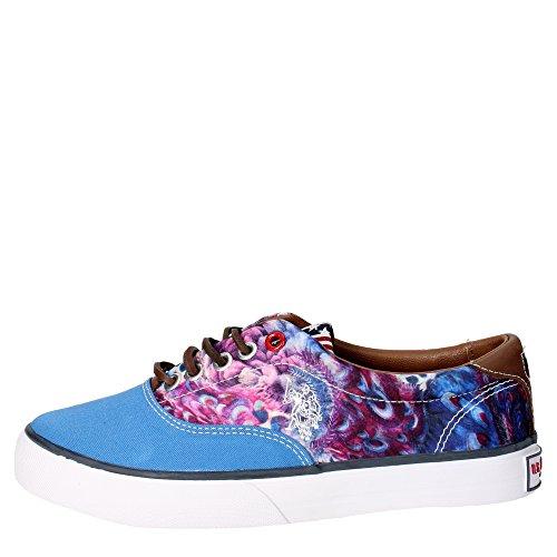 U.s. Polo Assn GALAN4148W3/CL5 Sneakers Femme Tissu Bleu Clair