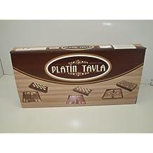 "Platin Wooden Backgammon 19"" Board Set Turkish Backgammon Game"