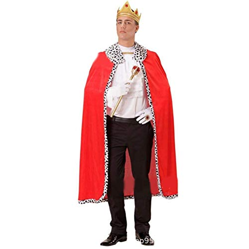 Eternitry Halloween-Party Für Kinder & Erwachsene Cosplay Kostüm King Cape Charming Dress Up (Kings Red Kind Robe)