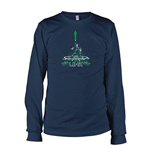 TEXLAB - Cyber Link - Langarm T-Shirt Dunkelblau