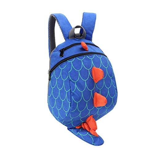 Dorical Schulrucksack für Kinder Kleinkinder 3D Dinosaur Muster Studenten Rucksack Schultasche, Daypack Reise Backpack für Schüler Outdoor Freizeit, für Junge und Mädchen 3-10 Jahre(Blau)