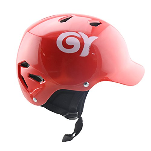 GY Kayaking Helmet Water Sports Boating&Caneoing Head Protective Equipment (Red, S)
