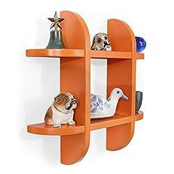 Forzza Ron Wall Shelf (Matt Finish, Orange)