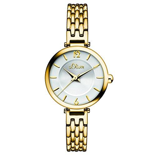 s. Oliver–Reloj de pulsera analógico para mujer cuarzo IP oro So de 15099de MQR