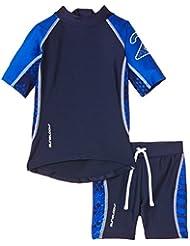 Zunblock Snake - Camiseta y pantalones cortos de natación para niño, color azul marino / azul royal, talla 74-80