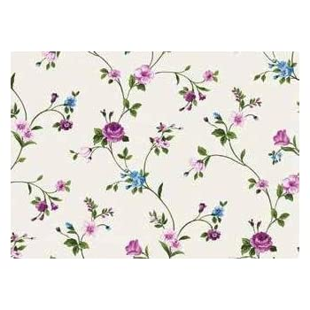 Floral PVC Wipe Clean Vinyl Tablecloth ALL SIZES F672-1 Code