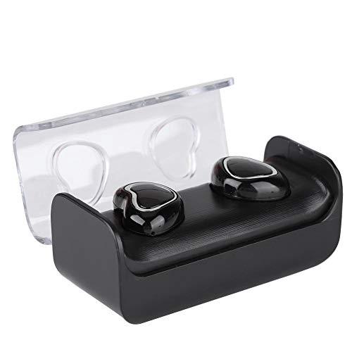 es Bluetooth 5.0 Headset TWS-7 Echtzeit-Batterieanzeige Herzförmige Stereo-Ohrhörer mit Sweatproof-Funktion und 650-mAh-Ladespeicher für Tablet-Laptop-PC-Fernseher ()